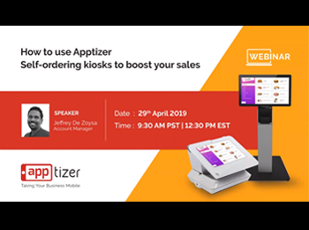 How to use Apptizer Self-ordering Kiosks to Boost Your Sales